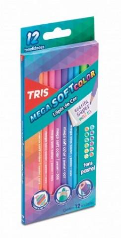 Lápis de Cor Mega Soft Color Tons Pastéis