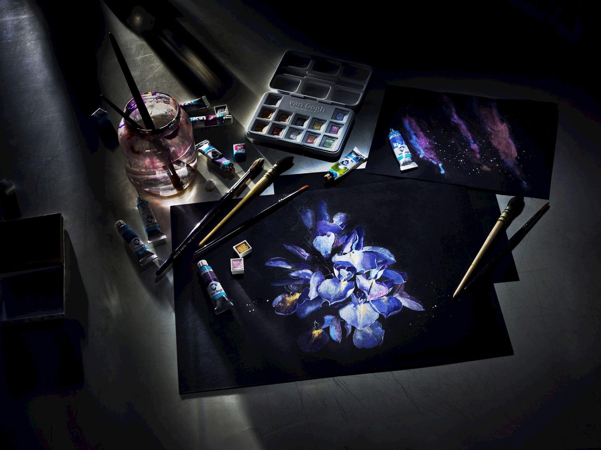 Papel Aquarela Van Gogh Preto 360g 12Fls A3