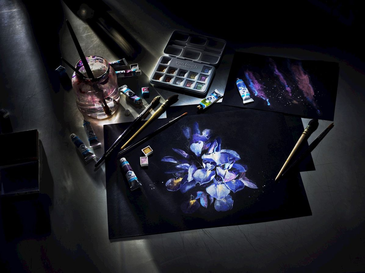 Papel Aquarela Van Gogh Preto 360g 12Fls A4