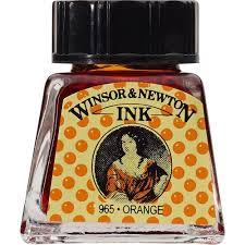 Tinta para Desenho W&N Laranja 14ml (1005449)