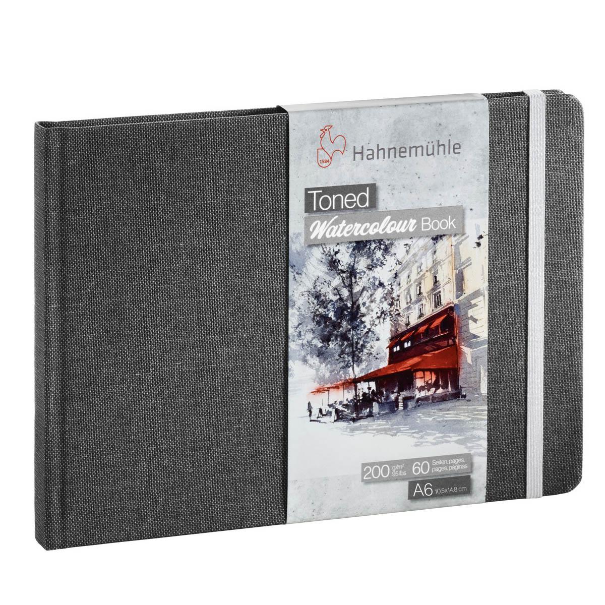 TONED WATERCOLOUR BOOK CINZA 200g A6 30fl 10625170