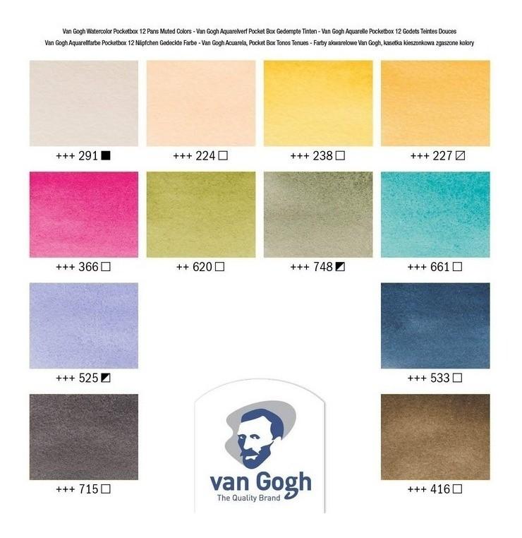 Van Gogh Pocket Box Estojo 12 Cores Muted Colours