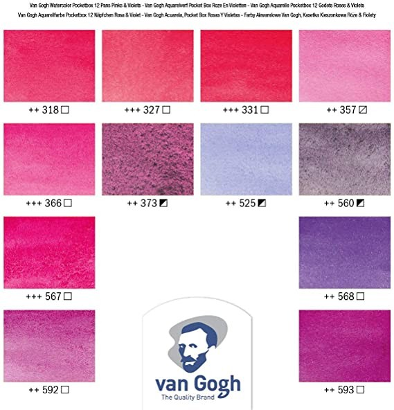Van Gogh Pocket Box Estojo 12Cores Pinks e Violets
