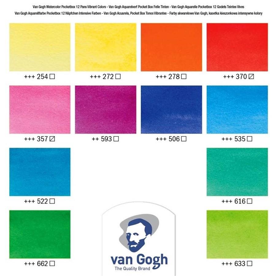Van Gogh Pocket Box Estojo 12Cores Vibrant Colours
