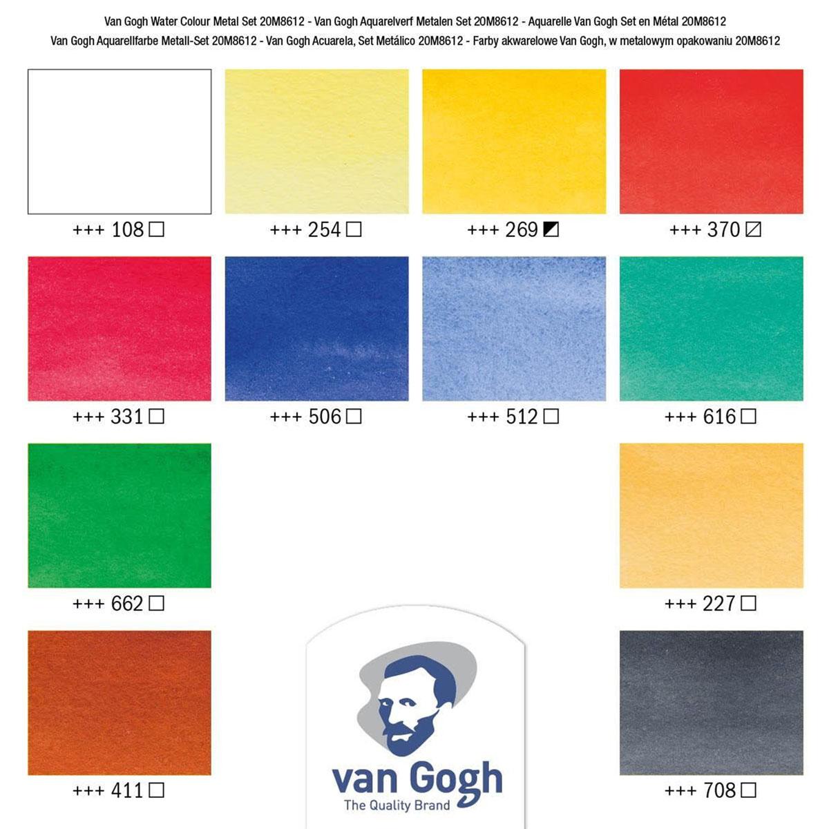 Van Gogh Pocket Box Estojo Metalica com 12 cores