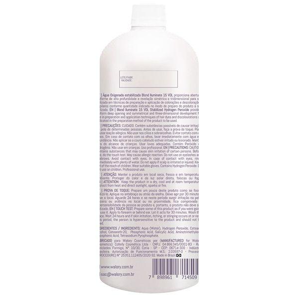 OX Água Oxigenada estabilizada Blond Iluminate 15 VOL - 900mL