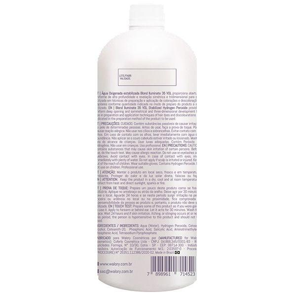 OX Água Oxigenada estabilizada Blond Iluminate 35 VOL - 900mL