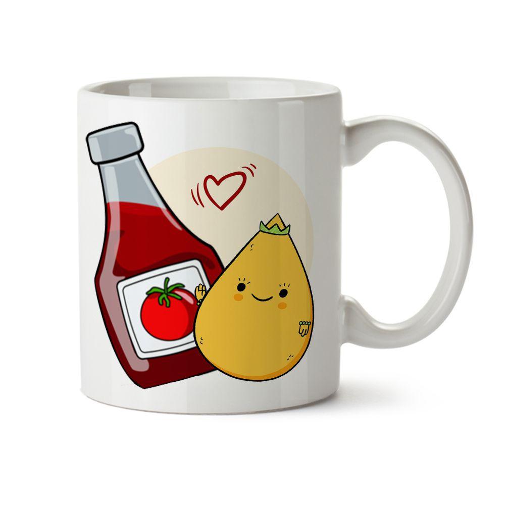 Caneca Dia dos Namorados A Gente Combina Como Coxinha E Ketchup