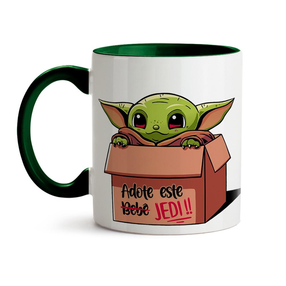 Caneca Baby Yoda Adote seu Jedi