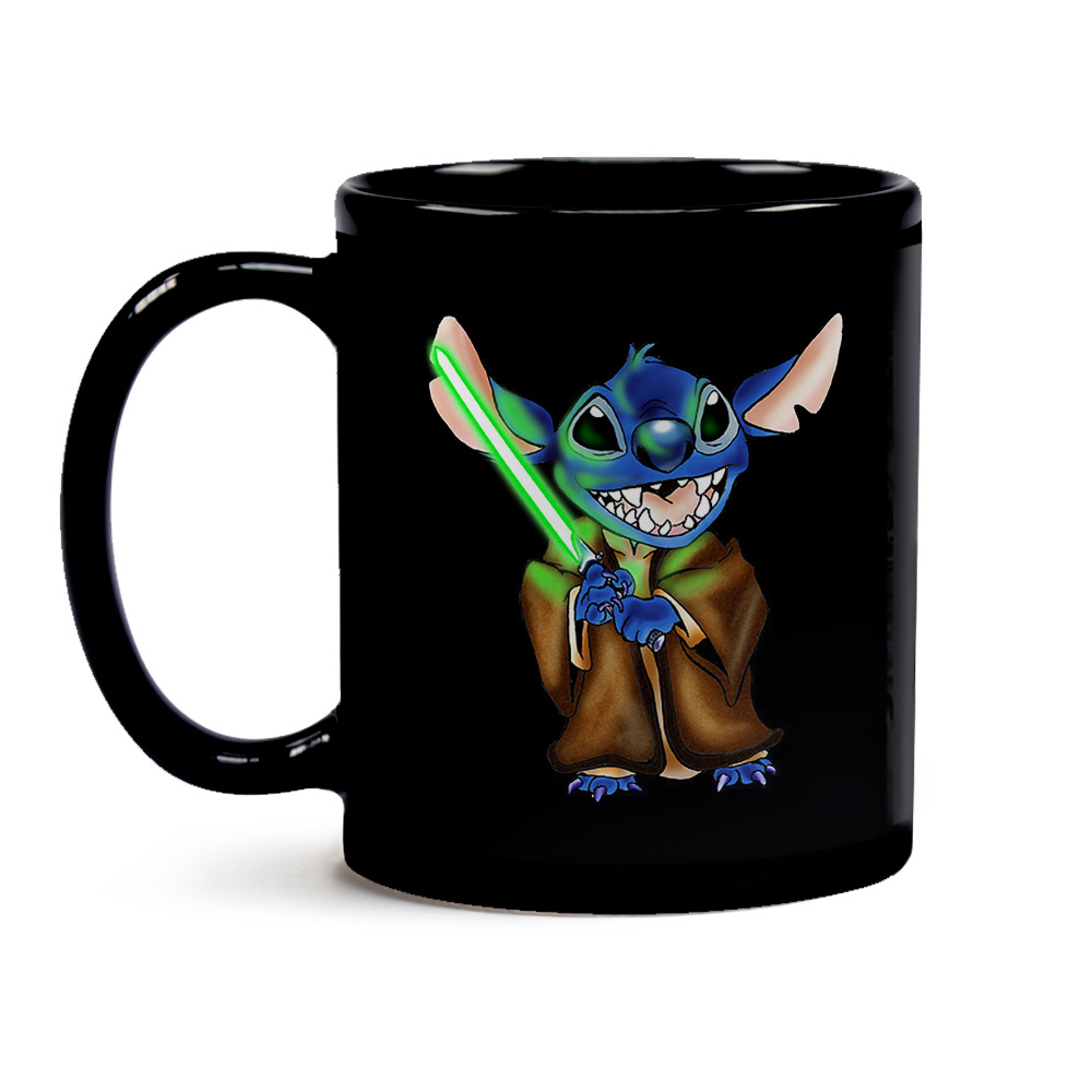 Caneca Black Jedi Stitch - Star Wars