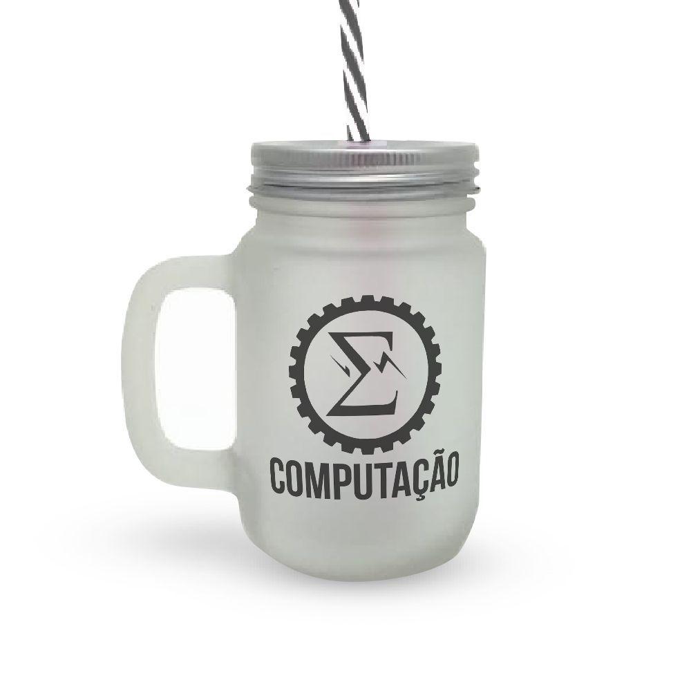 Caneca Canudo Profissão Computação