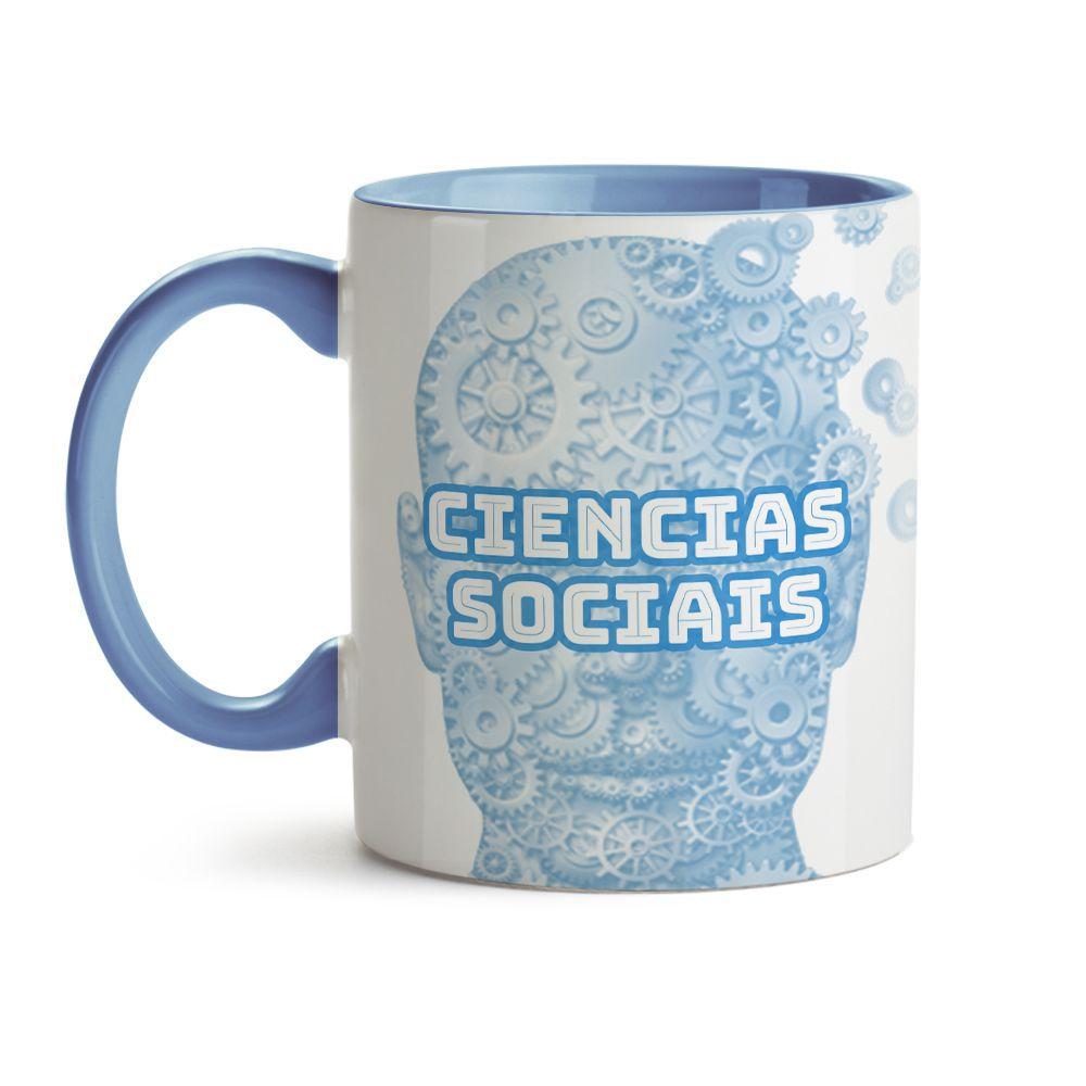Caneca Ciências Sociais Azul Com Nome