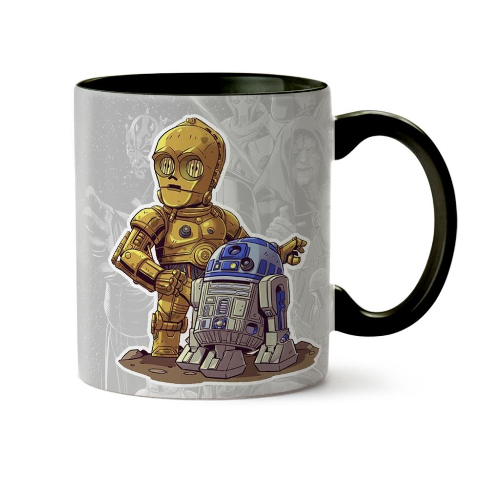 Caneca Coleção Star Wars R2-D2 e C-3PO - OUTLET