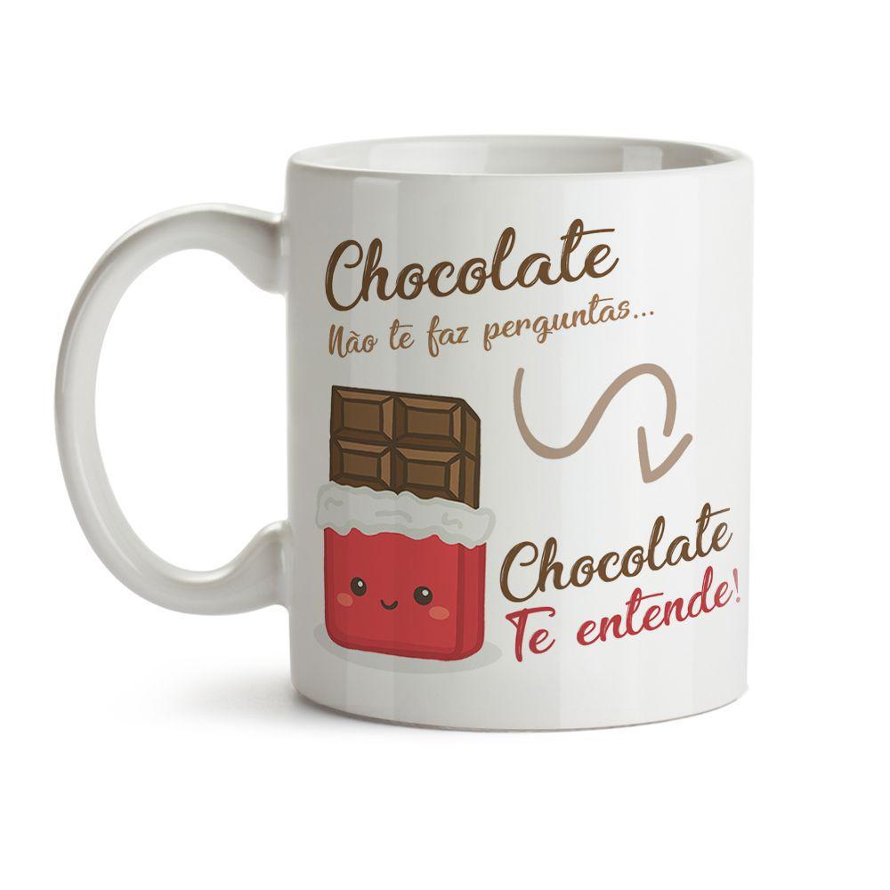 Caneca Comidinhas Chocolate Te Entende