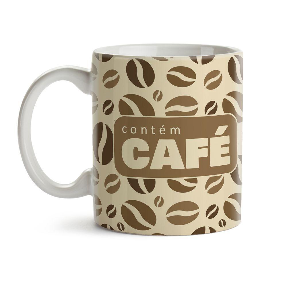 Caneca Contém Café Grãos 02