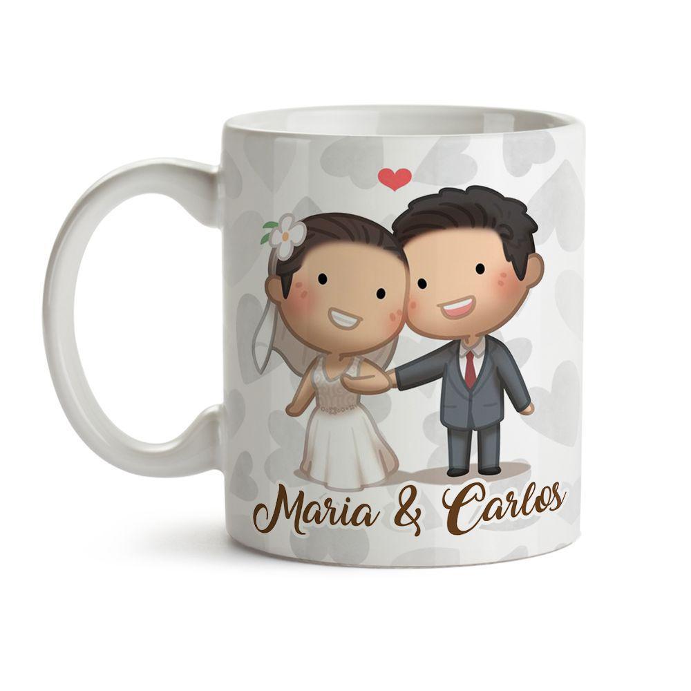 Caneca Convite Para Padrinhos casamento