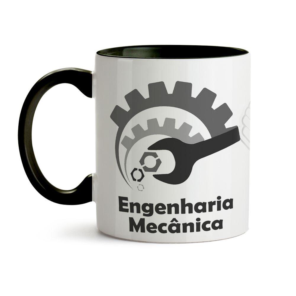 Caneca Engenharia Mecânica Chave Ícones