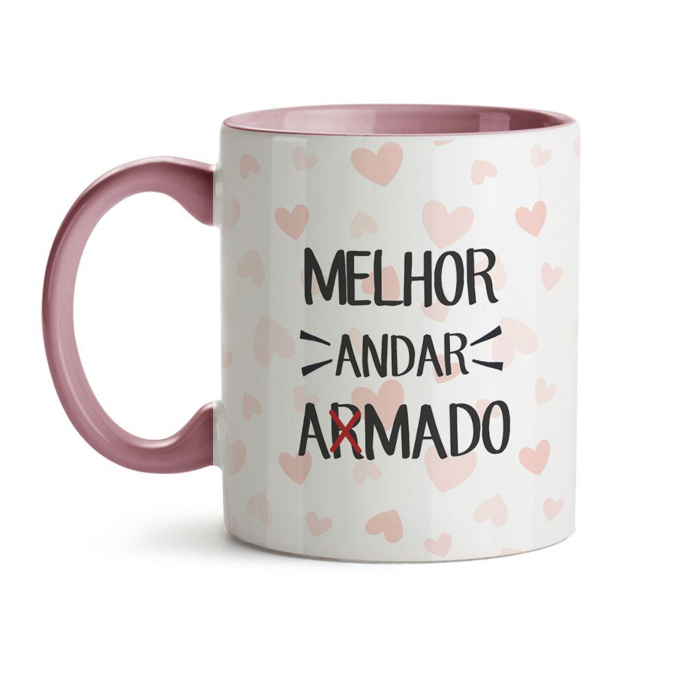 Caneca Frase - Andar Amado