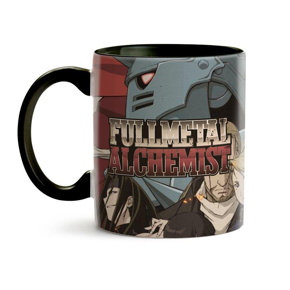 Caneca Fullmetal Alchemist Personagens