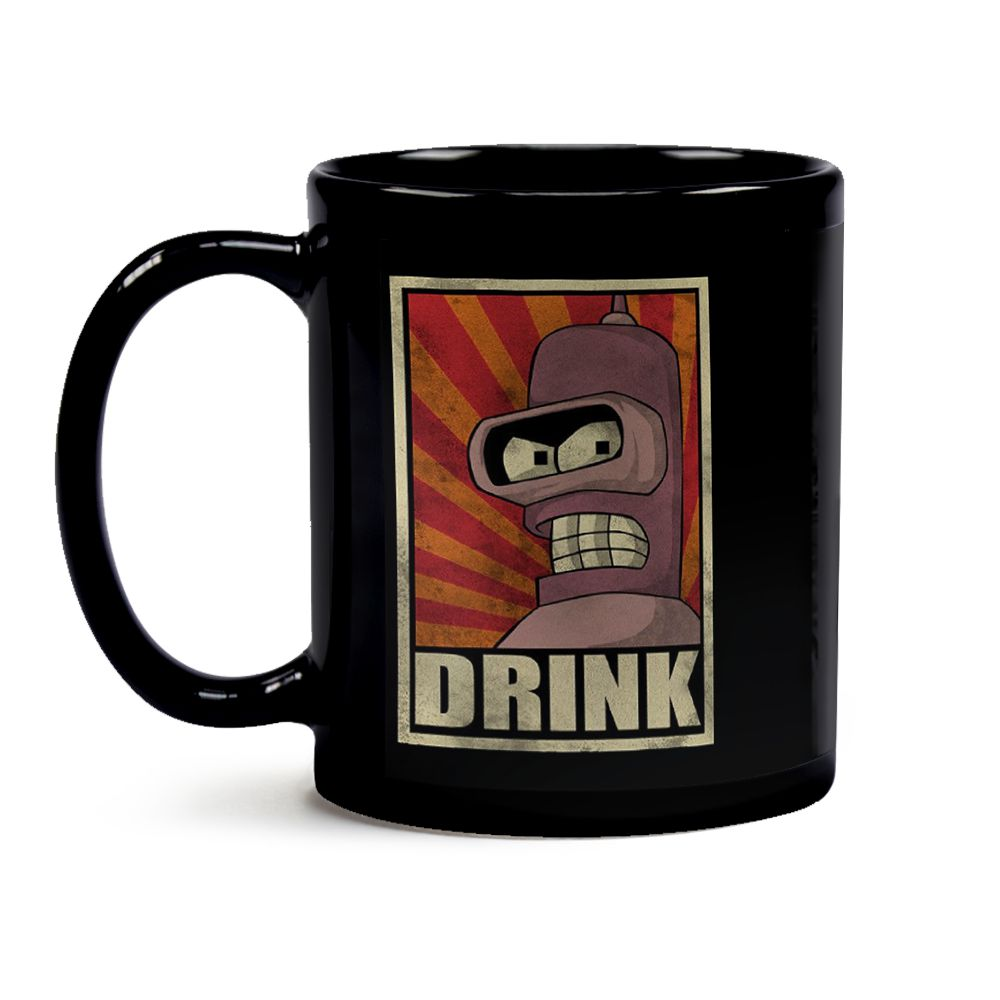 Caneca Futurama Bender Black