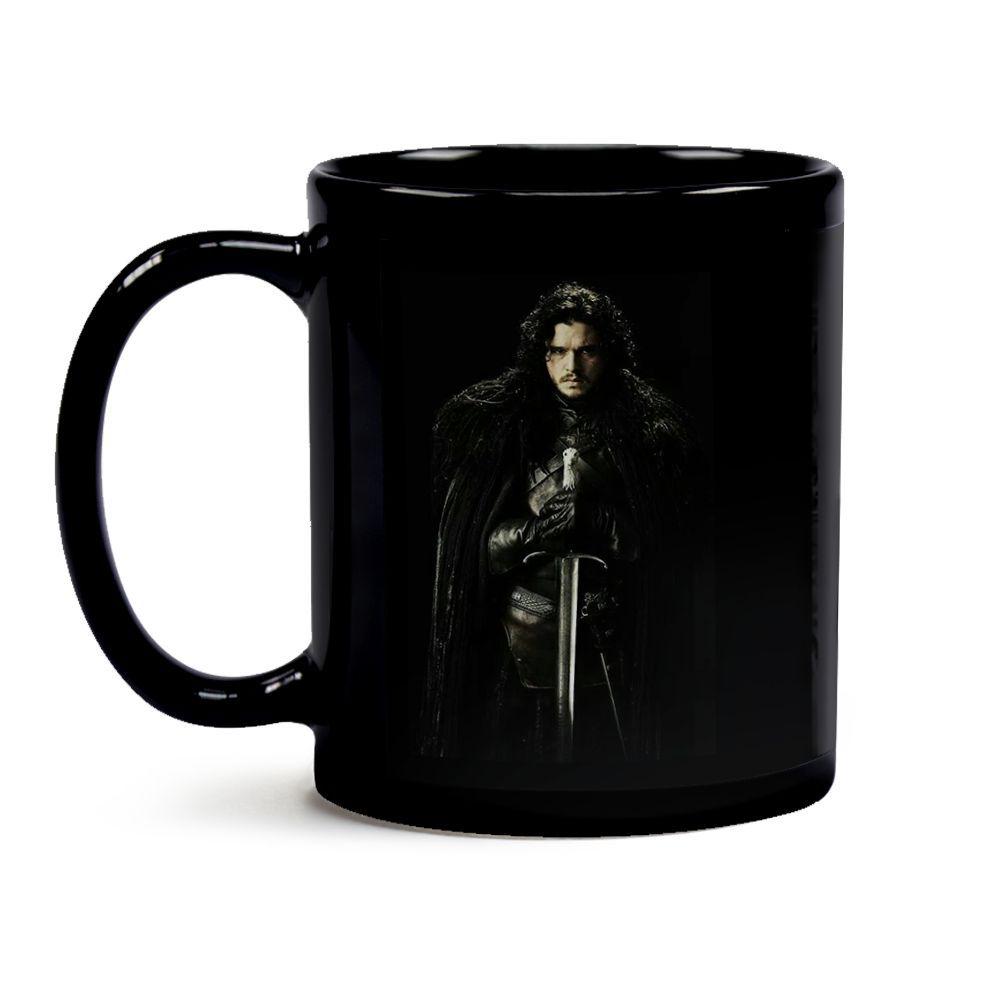 Caneca Game Of Thrones Jon Snow Black 01