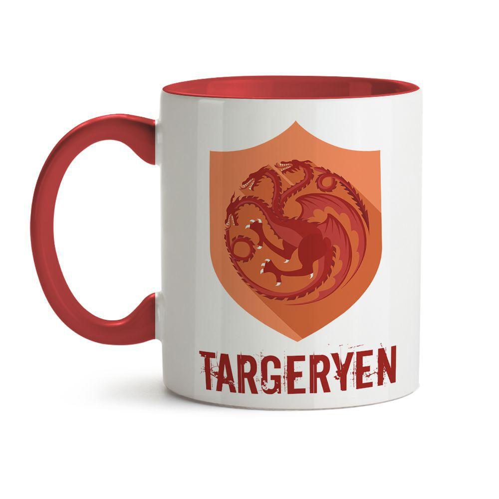 Caneca Game Of Thrones Logo Casa Targaryen