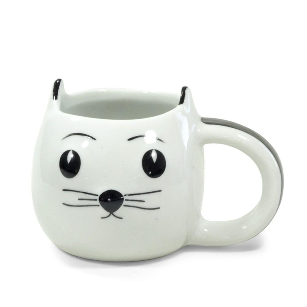 Caneca Gato branco 3D
