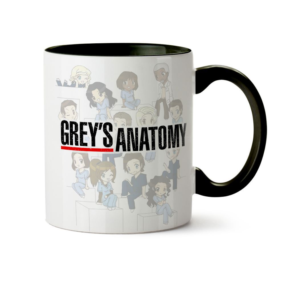 Caneca Grey'S Anatomy Cartoon 03