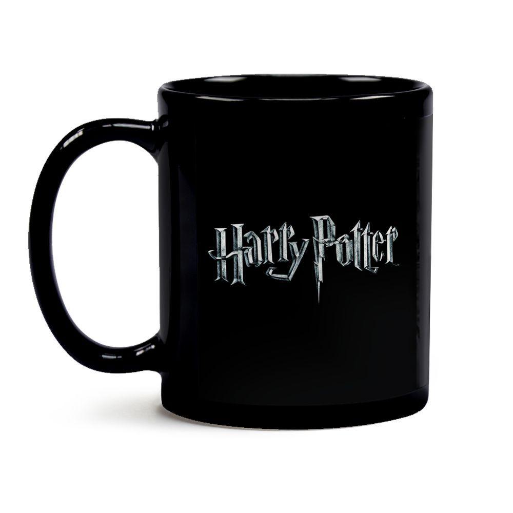 Caneca Harry Potter Logo 16 Toda Preta
