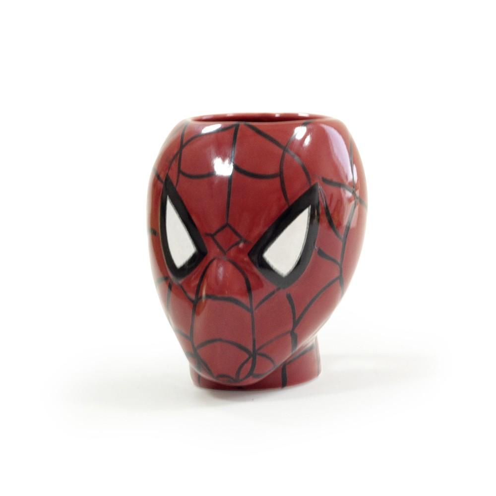 Caneca homem aranha rosto 3D especial