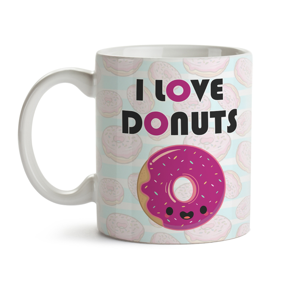 Caneca I Love Donuts OUTLET