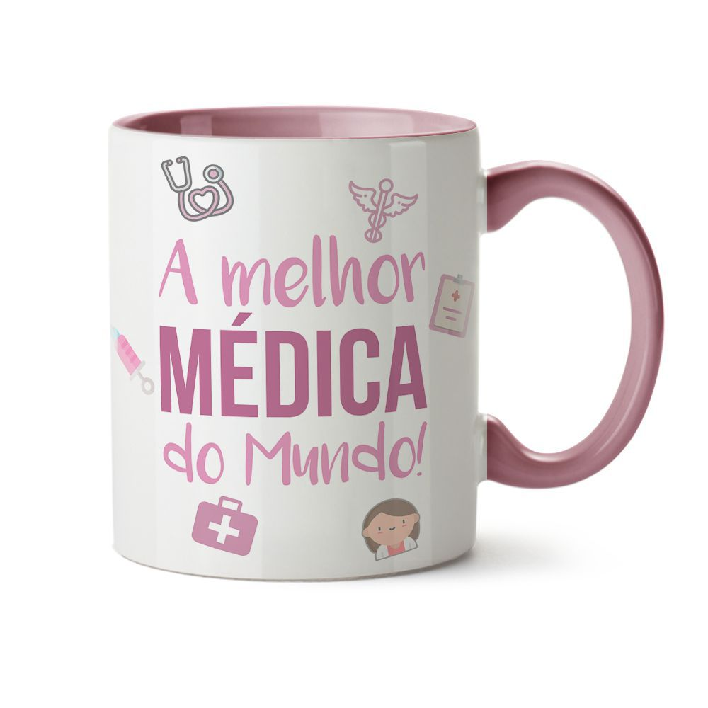 Caneca Melhor Médica C/ Nome
