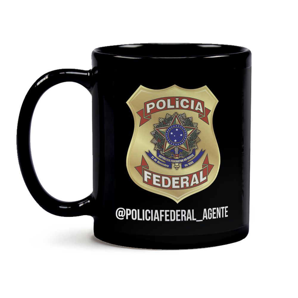 Caneca Policia Federal Gpi Preto
