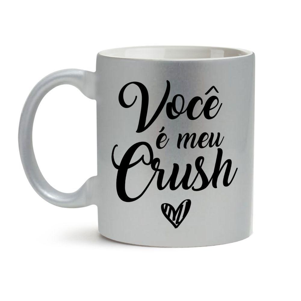 Caneca Dia dos Namorados Prata Você É Meu Crush