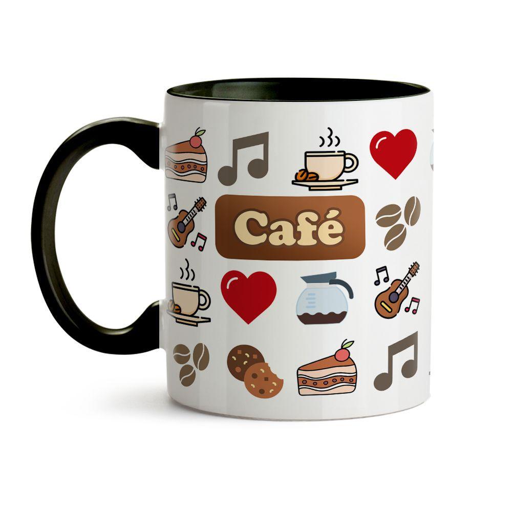 Caneca ícones café