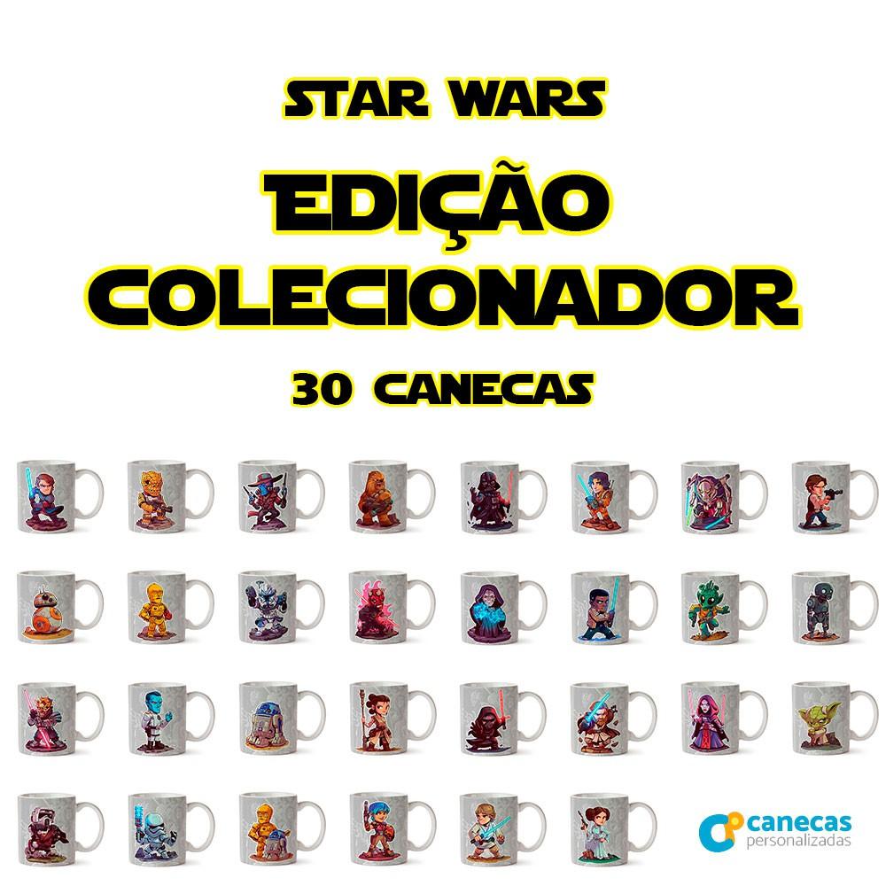 Kit 30 Canecas Star Wars - Edição Colecionador