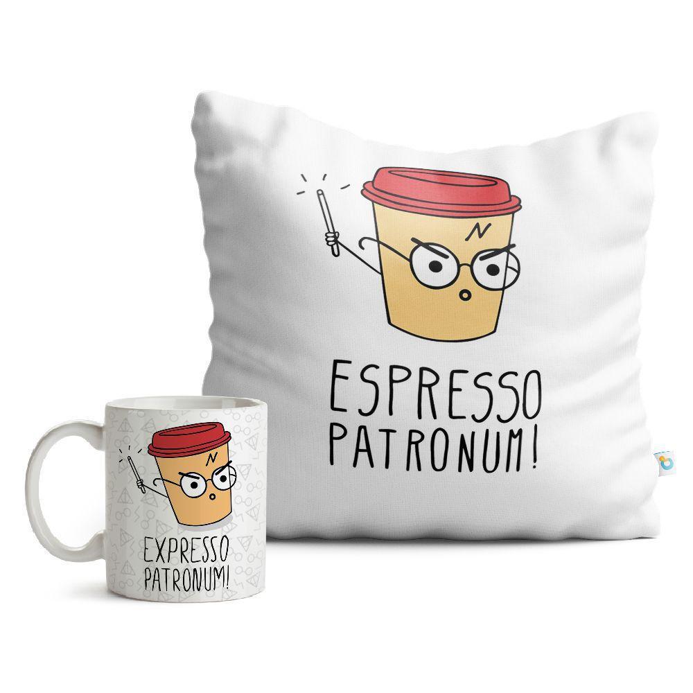 Kit Harry Potter Caneca e Almofada Espresso Patronum 02