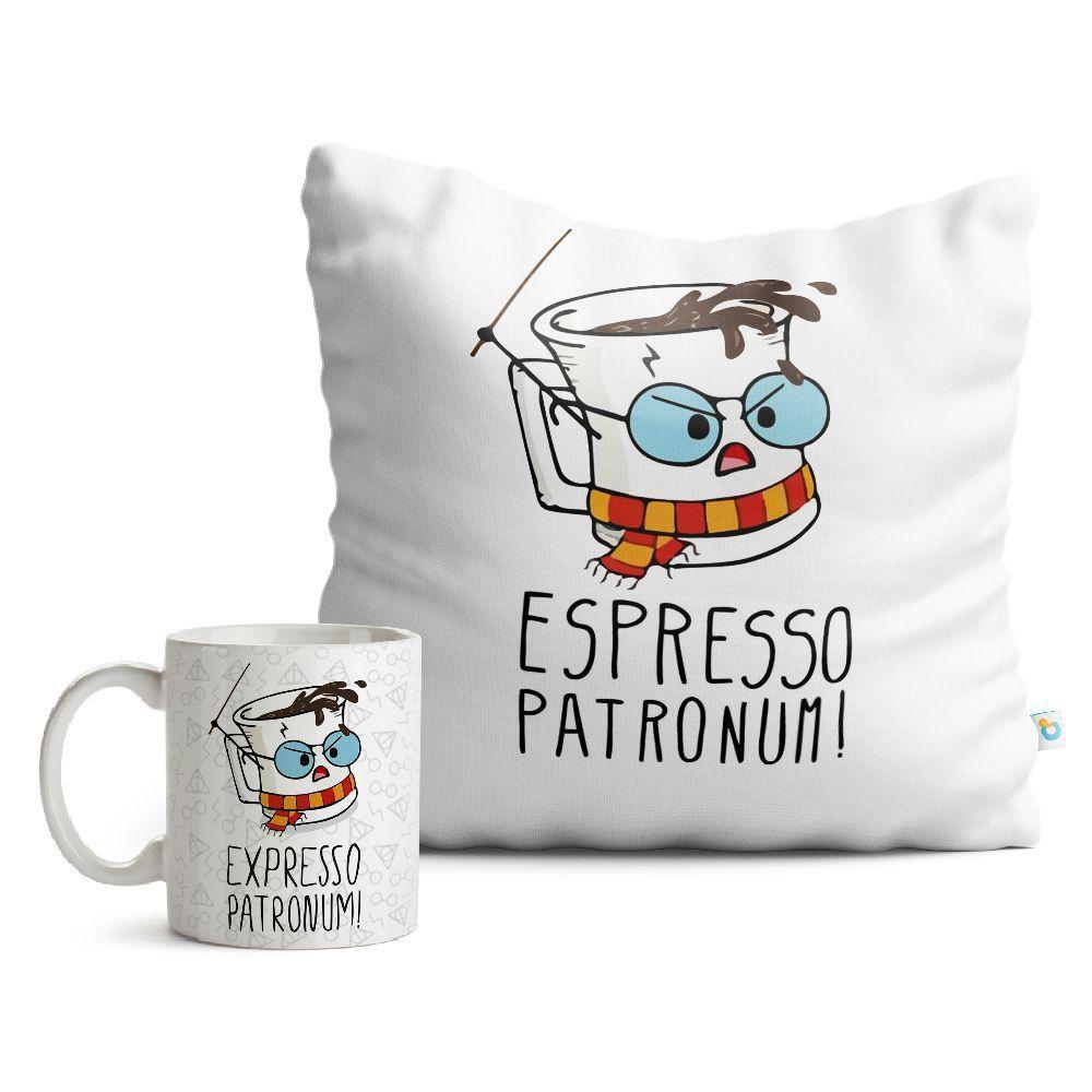 Kit Harry Potter Caneca e Almofada Espresso Patronum