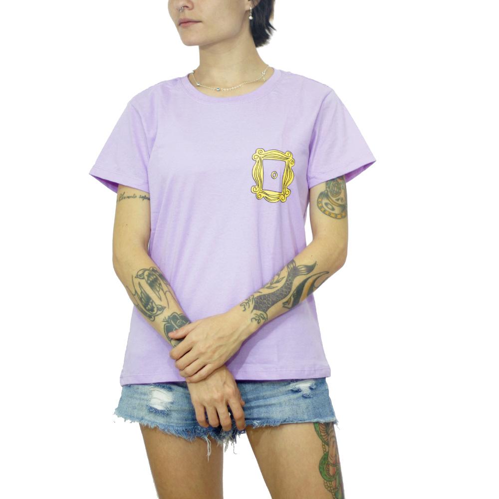 Kit Camiseta e Caneca Friends Moldura Amarela