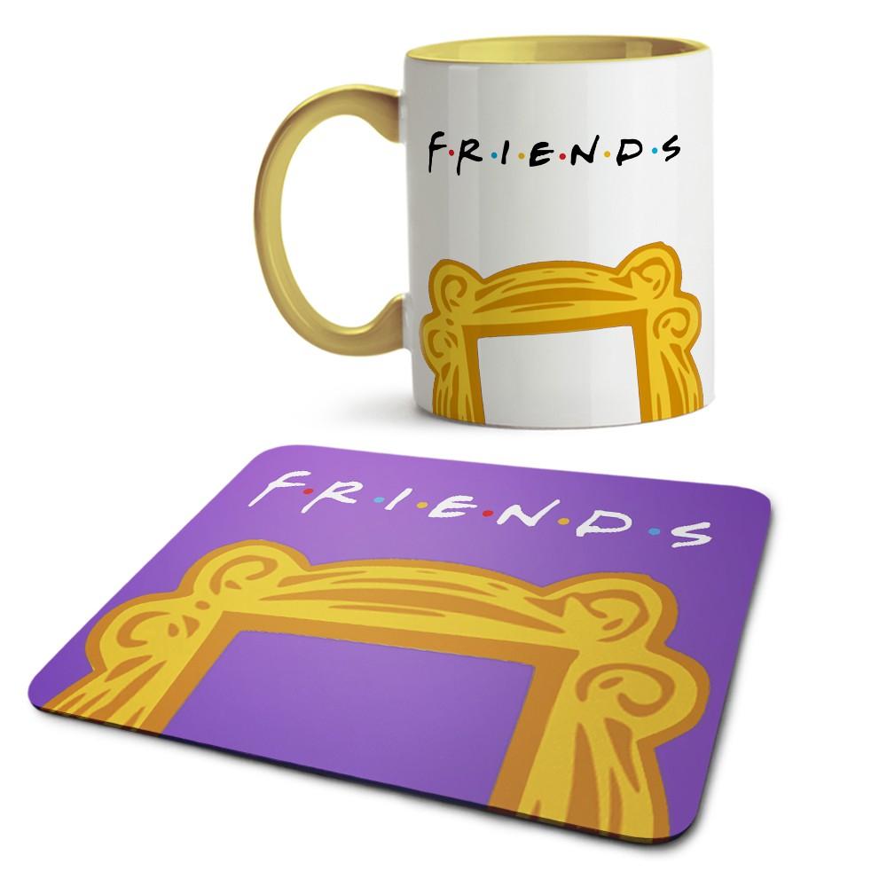 Kit caneca e mousepad friends Moldura