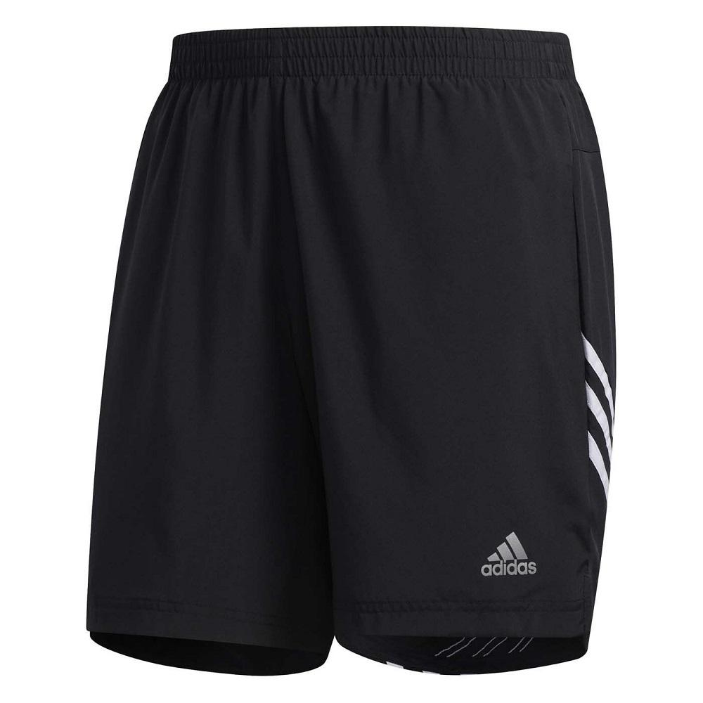 Bermuda Adidas Run It 3S M Preto Branco