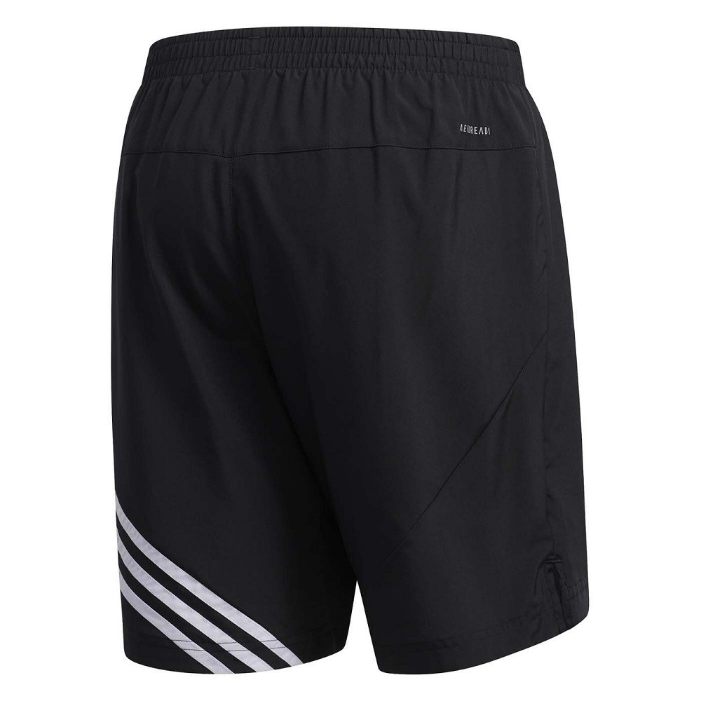 Bermuda Adidas Run It 3S M Preto Branco