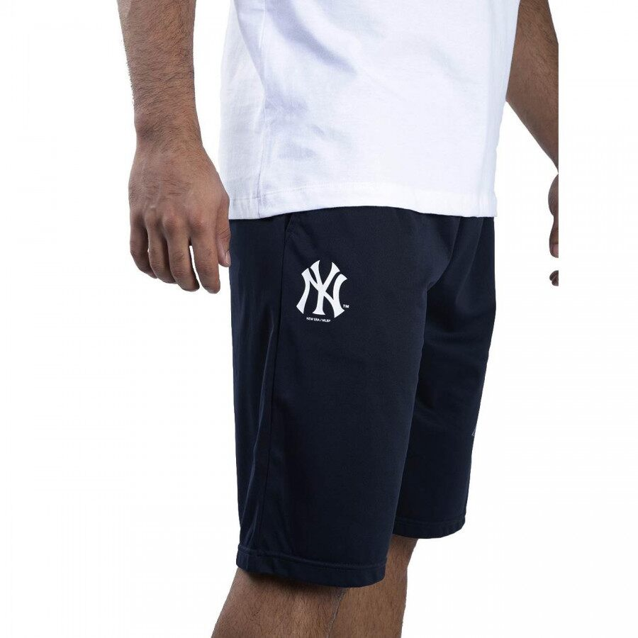 Bermuda Jersey MLB New York Yankees Sport Stripes Masculina Marinho New Era