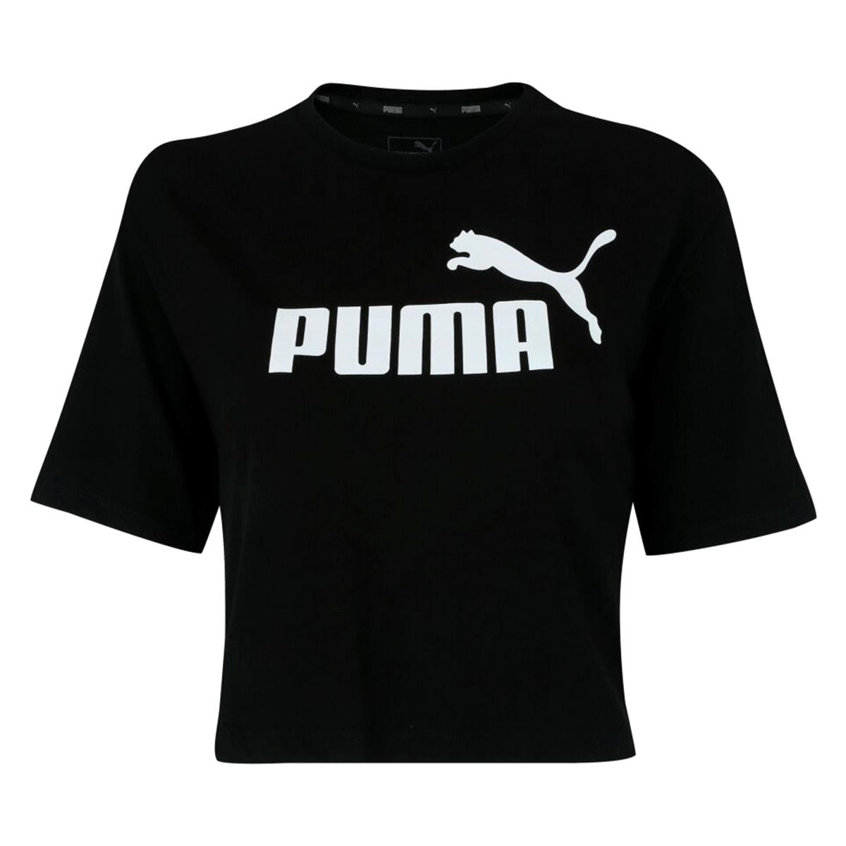 Blusa Cropped Puma Elevated Essentials Tee Feminino