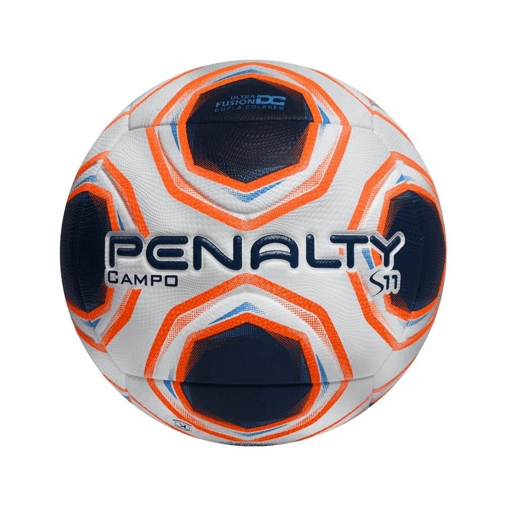 Bola Campo Penalty S11 R2 XXI Branco Laranja
