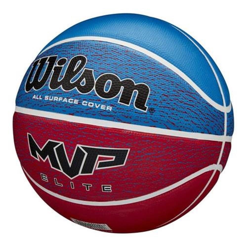 Bola de Basquete Wilson Mvp Elite Azul Vermelha