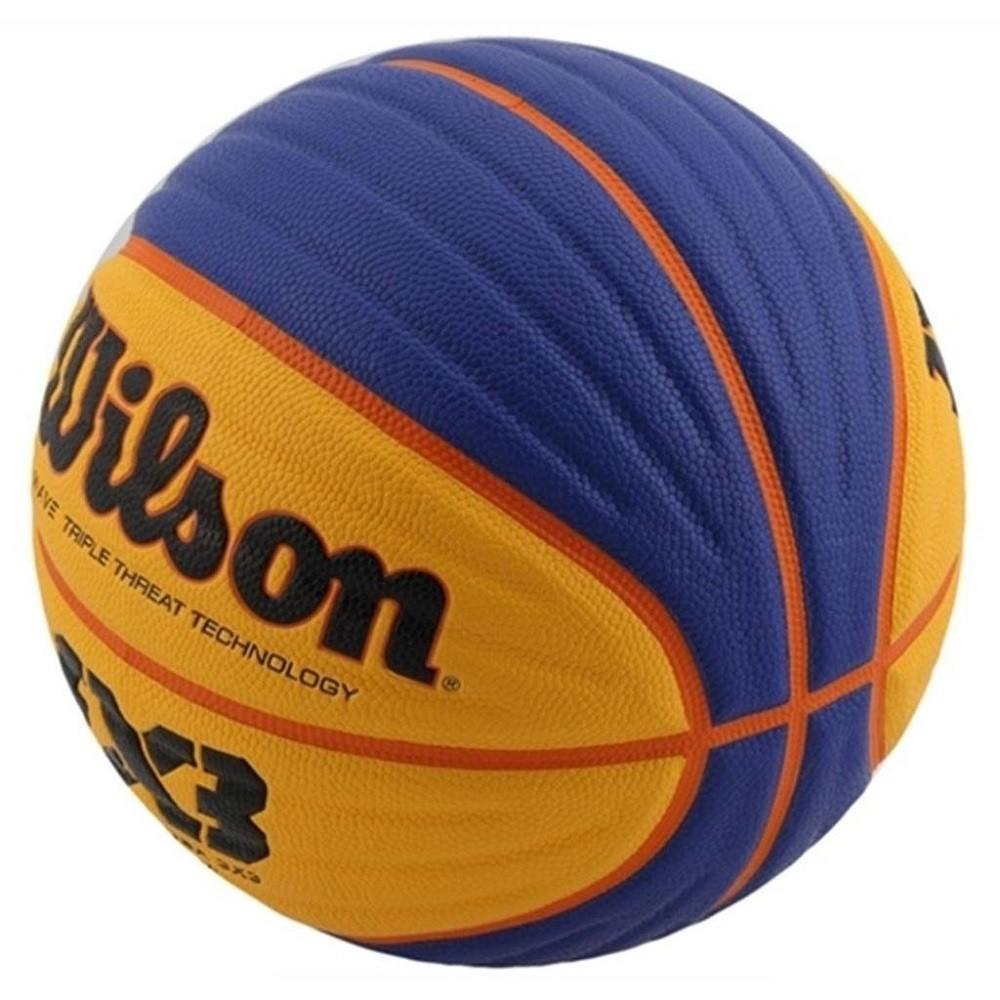 Bola de Basquete Wilson Oficial Fiba 3X3 Azul Amarelo