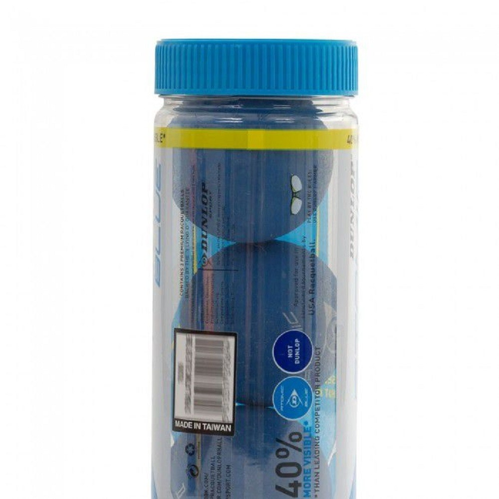 Bola de Frescobol Wilson Blue Bullet Tubo com 3 unidades