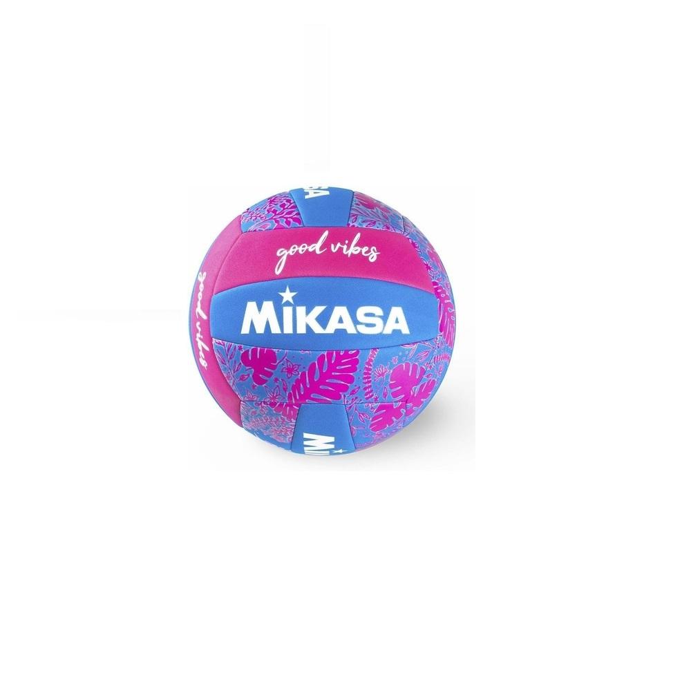 Bola de Vôlei Mikasa Good Vibes Azul Rosa