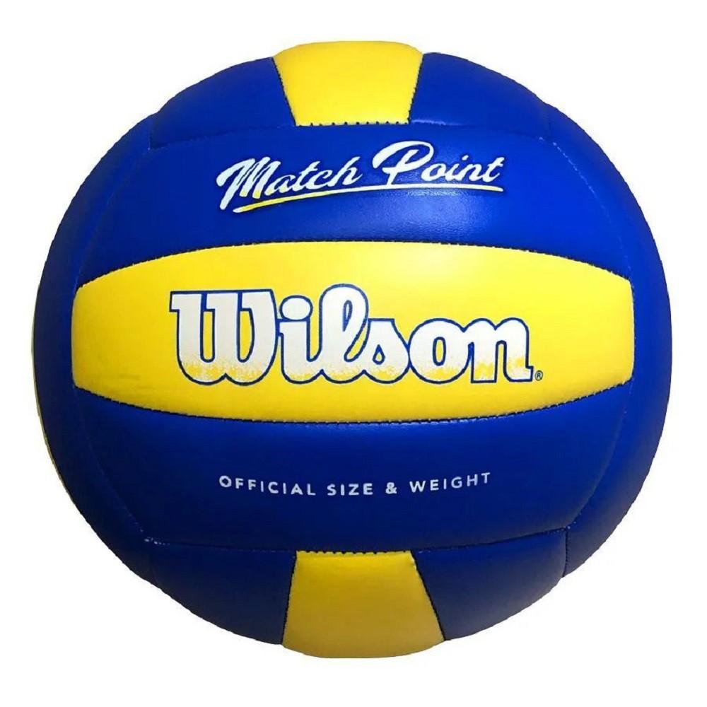 Bola de Vôlei Wilson Match Point Azul Amarelo
